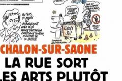 Arlette croquée dans Charlie Hebdo / Chalon dans la rue 2016